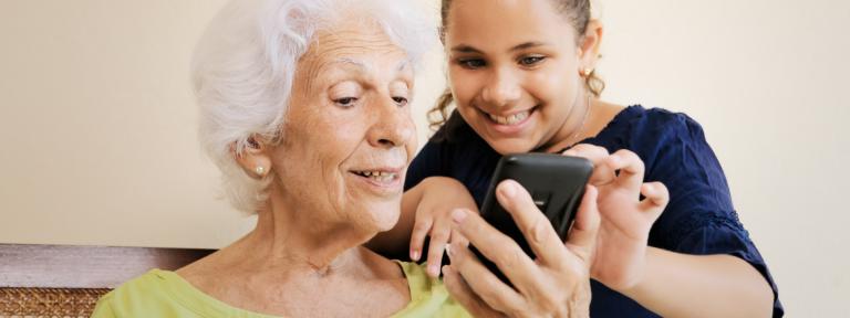 Grandparent and child mobile
